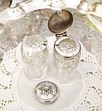 Посеребренный набор для специй, винтажный английский круэт, солонка и перечница, серебрение, Англия, винтаж, фото 4