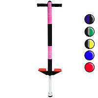 (GIPS), Дитячий джампер пого стік Чорно-рожевий, дитяча скакалки коник Pogo Stick 91 см, пого палиця