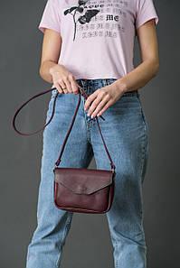 Сумка женская. Кожаная сумочка Лилу, Итальянская кожа Краст, цвет Бордо