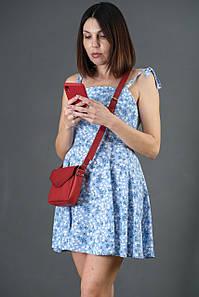 Сумка женская. Кожаная сумочка Лилу, Итальянская кожа Краст, цвет Красный