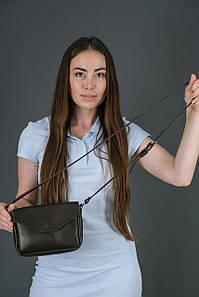 Сумка женская. Кожаная сумочка Лилу, Итальянская кожа Краст, цвет Кофе