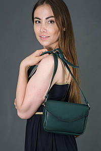 Сумка женская. Кожаная сумочка Лилу, Итальянская кожа Краст, цвет Зелёный