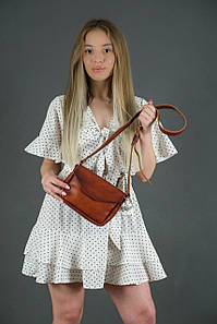 Сумка женская. Кожаная сумочка Лилу, Итальянская кожа Краст, цвет Вишня
