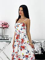 Сукня жіноча літнє квітчасте 1444 (42-44; 46-48) СП, фото 1