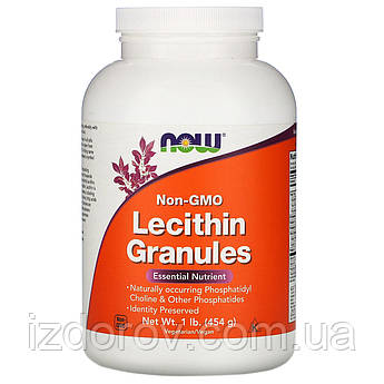 Now Foods, Лецитин в гранулах, без ГМО, Lecithin Granules, 454 г