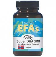 Омега-3 из масла кальмаров / Super DHA 500 from Calamari, 30 капсул