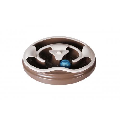 Іграшка для кота трек з музичним м'ячем шоколадна 274х274х47 мм AnimАll (АнимАлл) CrazZy