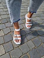 Жіночі білі босоніжки з натуральної шкіри. Розміри 36-40, фото 1