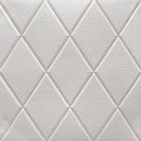 Потолочная 3д панель Белые Ромбы (самоклеющиеся 3d панели потолочная плита на потолок текстура 700x700x7 мм