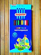 Набор цветных карандашей  Пифагор 12 цветов | Цветные карандаши |