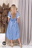 Легкое летнее платье-рубашка в полоску, фото 2