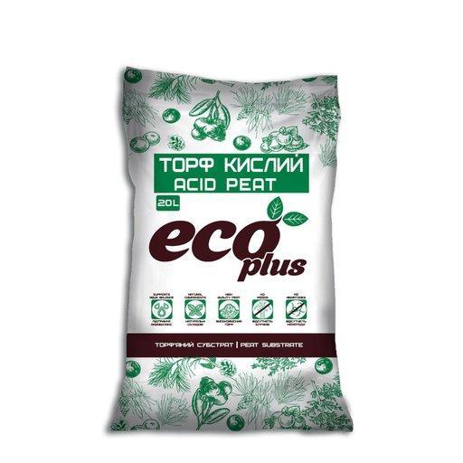 Торф'яний субстрат торф кислий ECO PLUS, 20 л