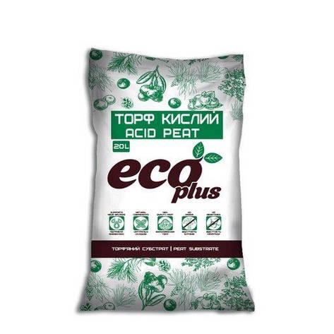Торф'яний субстрат торф кислий ECO PLUS, 20 л, фото 2