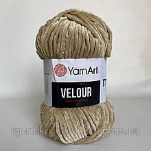 Велюрова пряжа YarnArt Velour 843 ( ЯрнАрт Велюр) Беж