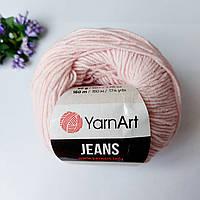 Пряжа YarnArt Jeans 18 бледно-розовый