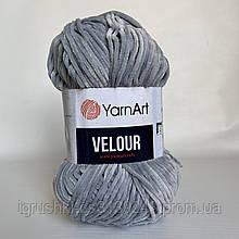 Велюрова пряжа YarnArt Velour 867 ( ЯрнАрт Велюр) Сірий