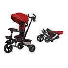 Детский трехколесный велосипед TILLY FLIP T-390 Красный с родительской ручкой, капюшоном и багажником, фото 3
