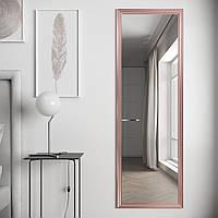 Зеркало на стену в раме цвета розовое золото 178х58 Black Mirror в прихожую спальню ванну коридор
