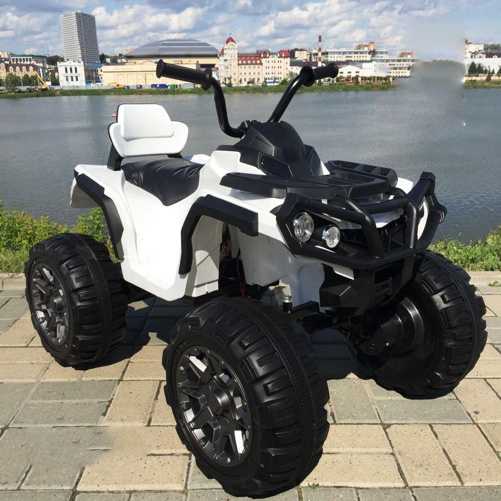 Детский электрический квадроцикл Grizzly 2WD 8868  (колеса резина, сиденье кожа, музыка)
