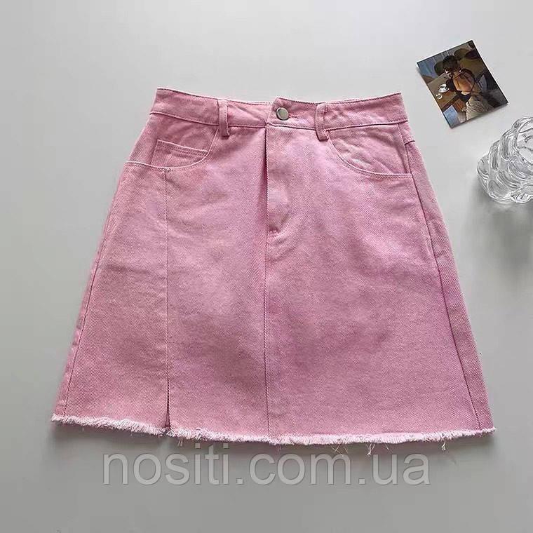 Жіноча коротка джинсова спідниця