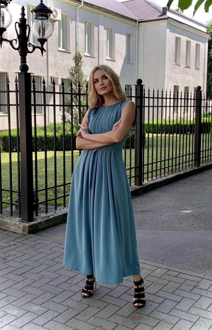 Платье женское бирюзовое миди Миори Style-Nika SN2015/3-04