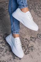 Кеды кроссовки женские из натуральной кожи Белые