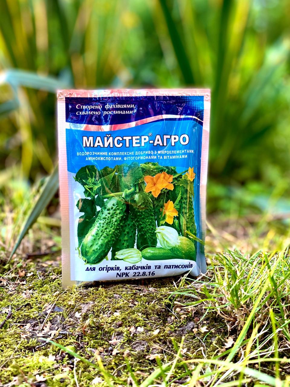 Майстер-Агро для огірків, кабачків та патисонів 100 г
