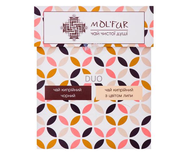 Набор чая MOL'FAR кипрейный и с цветом липы органический в пакетиках 20 шт