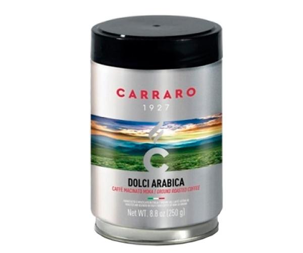 Кофе Carraro Dolci Arabica 1927 молотый ж/б 250 г