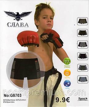 Детские подростковые боксеры хлопок с бамбуком Слава, 6-15 лет, 8703