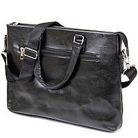 Ділова сумка кожзам Vintage 20516 Чорна, фото 2
