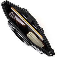Ділова сумка кожзам Vintage 20516 Чорна, фото 3