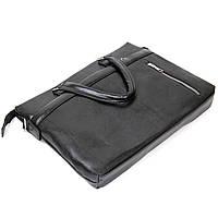 Ділова сумка кожзам Vintage 20516 Чорна, фото 4