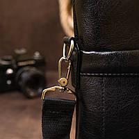 Ділова сумка кожзам Vintage 20516 Чорна, фото 8