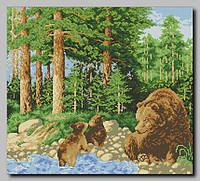 """Схема для полной вышивки бисером """"Медведи"""""""