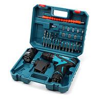 Шуруповерт Makita DF330DWE 12В 2Ач Li-Ion кейс с набором инструментов (копия хорошего качества)
