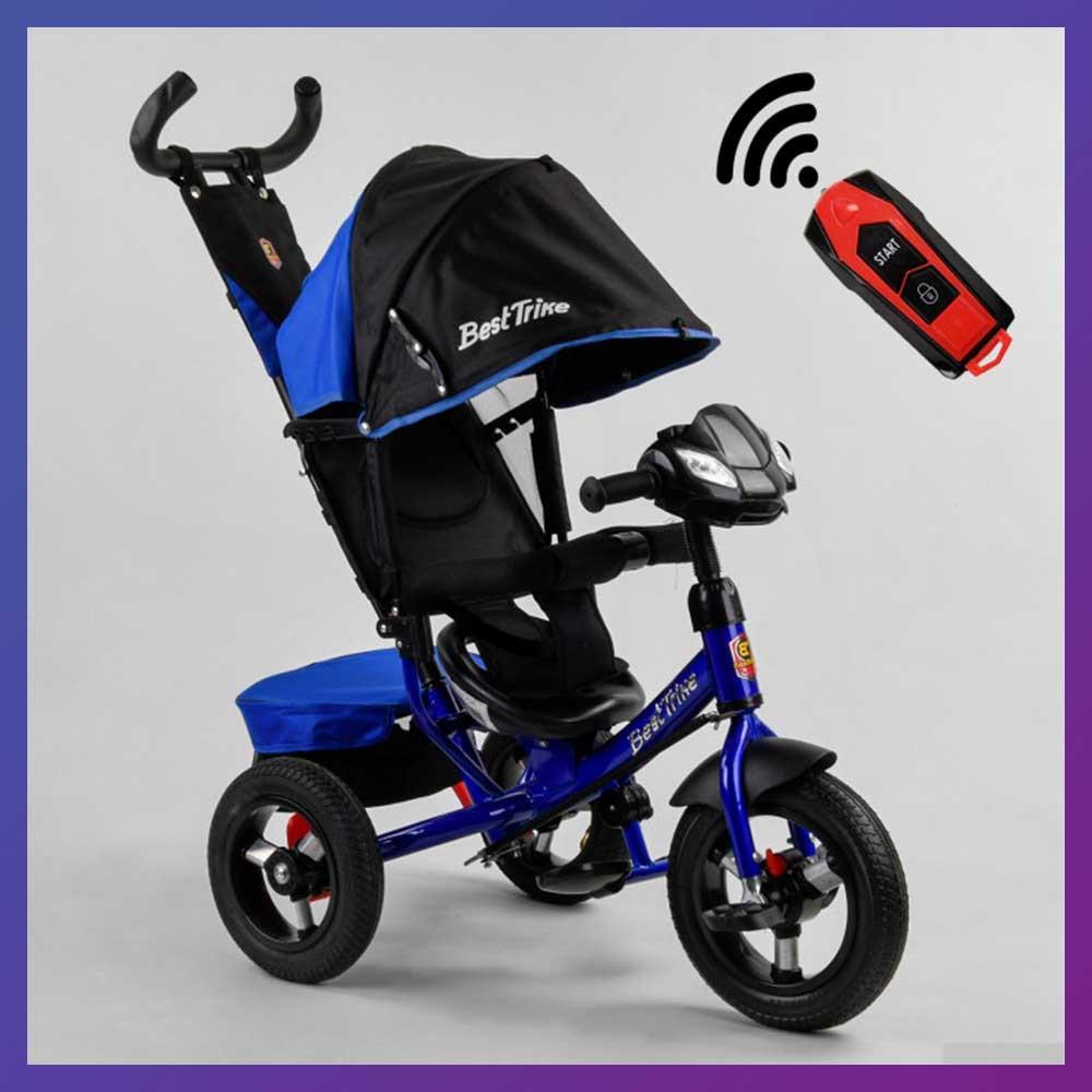 Детский трехколесный велосипед - коляска Best Trike 3390 / 65-005 с родительской ручкой синий