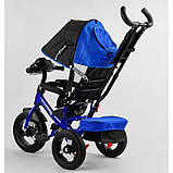 Детский трехколесный велосипед - коляска Best Trike 3390 / 65-005 с родительской ручкой синий, фото 5