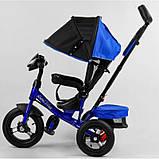 Детский трехколесный велосипед - коляска Best Trike 3390 / 65-005 с родительской ручкой синий, фото 6