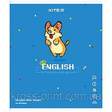Предметная тетрадь Kite Pixel K21-240-10, 48 листов, в линию, английский язык