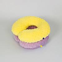 Подушки дорожные для путешествий B-Soon Минки 2шт цвет сиреневый и жёлтый (ДП-06)