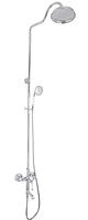 Душевая колонна со смесителем MIXXUS PREMIUM VINTAGE 009-J хромированный душевой набор с тропическим душем