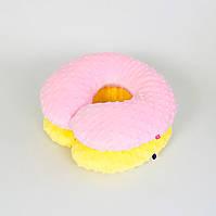 Подушки дорожные для путешествий B-Soon Минки 2 шт цвет розовый и жёлтый (ДП-07)
