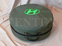Чехол-сумка для запасного колеса Hyundai. Цвет зеленый 75х22, фото 1