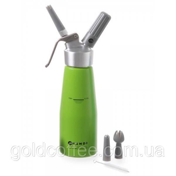 Сифон Hendi 0,5 л. зелений