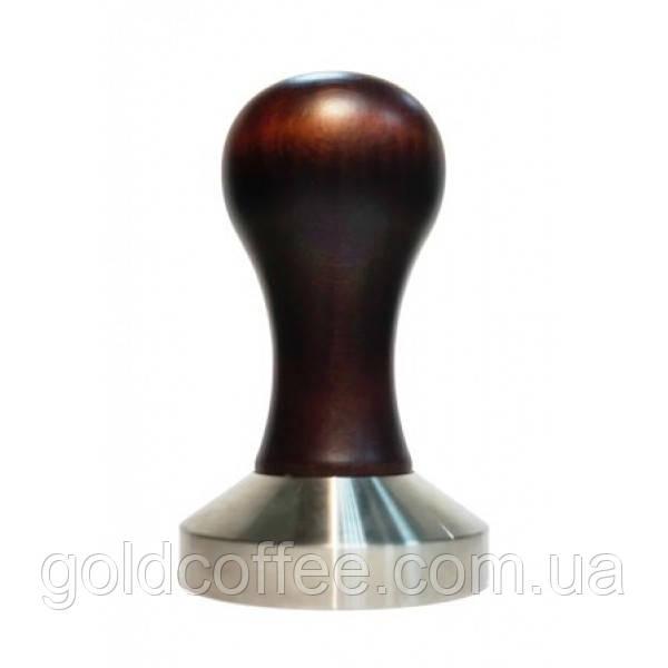 Темпер для кави 57 мм, темна матова дерев'яна ручка