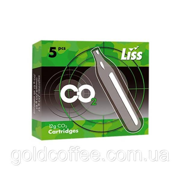 Баллончики CO2 для пневматики 5 шт., LISS