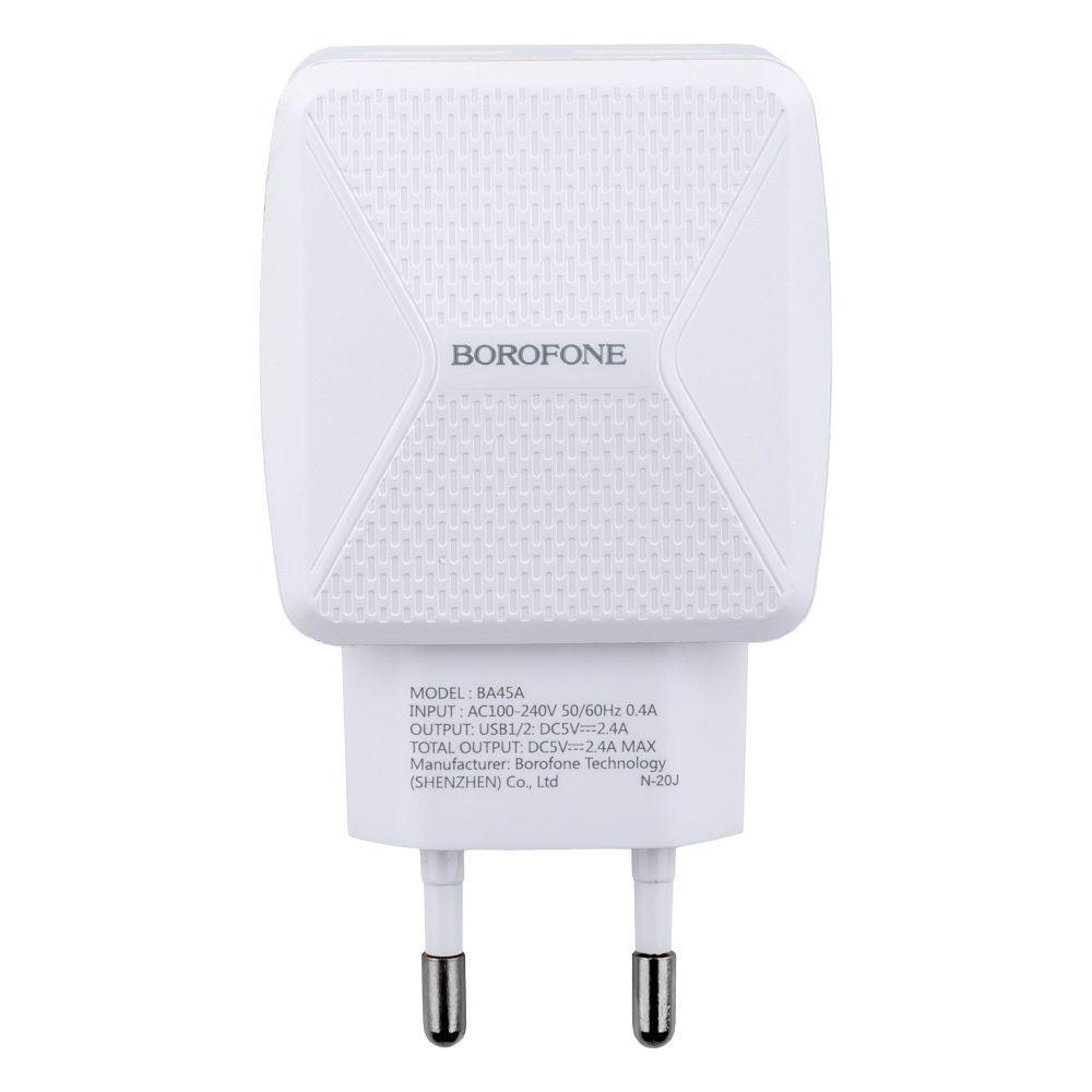 Мережевий Зарядний Пристрій Borofone BA45A Micro