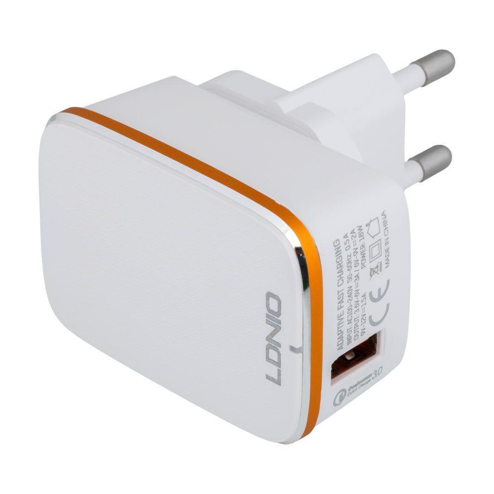 Сетевое Зарядное Устройство LDNIO A1204Q QC3.0 18W Type-C