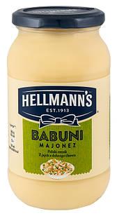 Майонез hellmann's Babuni, 420мл, Польща, 65% жирність, Оригінал